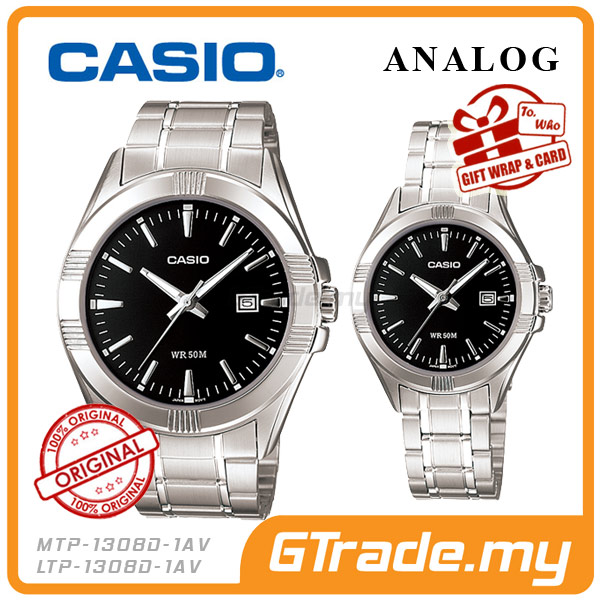 CASIO STANDARD MTP-1308D-1AV & LTP-1308D-1AV Analog Couple Watch