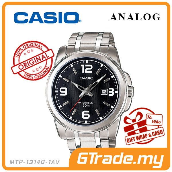 CASIO STANDARD MTP-1314D-1AV Analog Mens Watch | Date Display WR50m