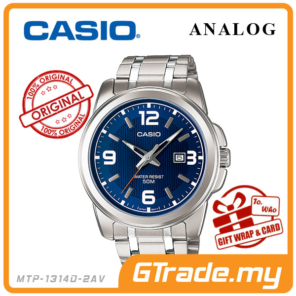 CASIO STANDARD MTP-1314D-2AV Analog Mens Watch | Date Display WR50m