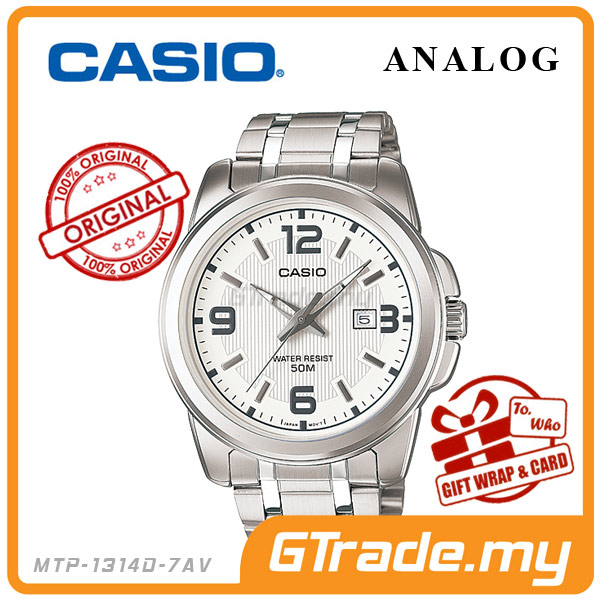 CASIO STANDARD MTP-1314D-7AV Analog Mens Watch | Date Display WR50m