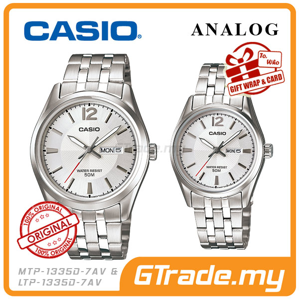 CASIO STANDARD MTP-1335D-7AV & LTP-1335D-7AV Analog Couple Watch