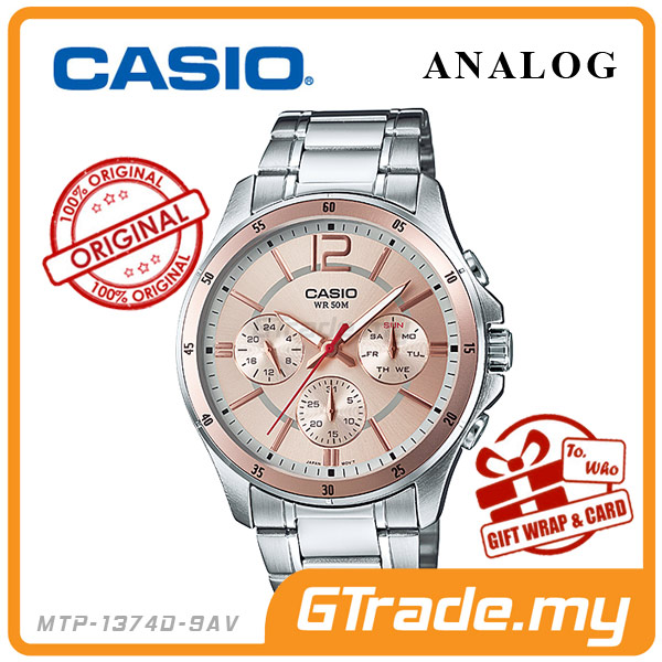 CASIO STANDARD MTP-1374D-9AV Analog Mens Watch | Date Day Display