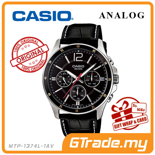 CASIO STANDARD MTP-1374L-1AV Analog Mens Watch | Date Day Display