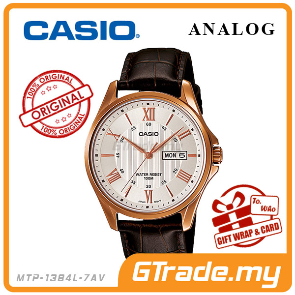 CASIO STANDARD MTP-1384L-7AV Analog Mens Watch | Day Date Display