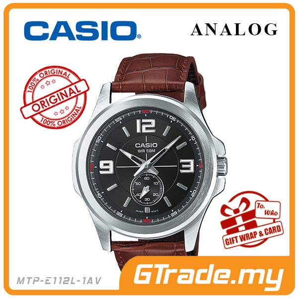CASIO STANDARD MTP-E112L-1AV Analog Mens Watch | 50m Water Resist.