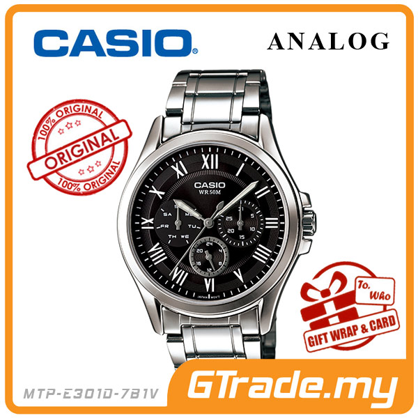 CASIO STANDARD MTP-E301D-1BV Analog Mens Watch |Day Date 24Hrs Display