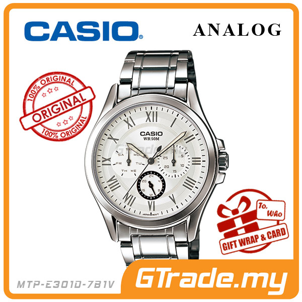 CASIO STANDARD MTP-E301D-7B1V Analog Mens Watch Day Date 24Hrs Display