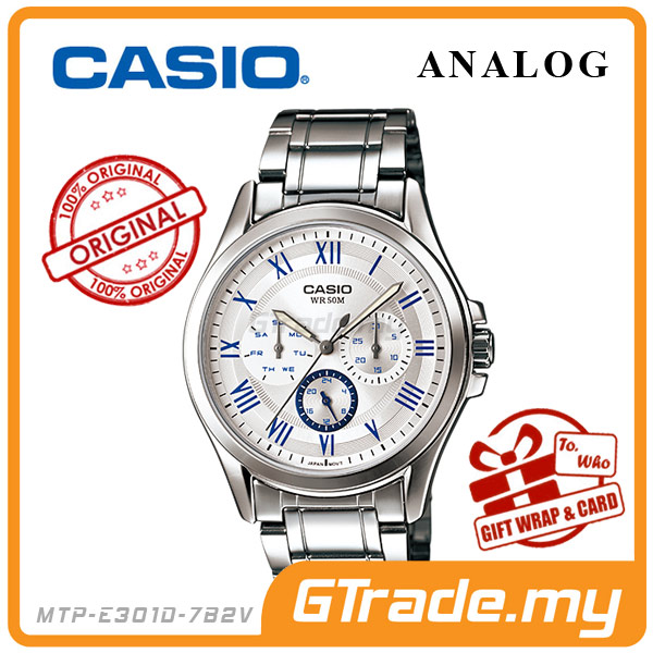 CASIO STANDARD MTP-E301D-7B2V Analog Mens Watch Day Date 24Hrs Display