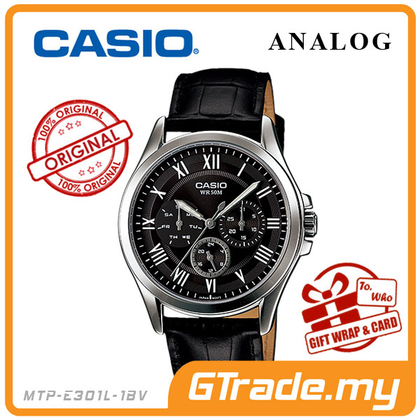 CASIO STANDARD MTP-E301L-1BV Analog Mens Watch |Day Date 24Hrs Display
