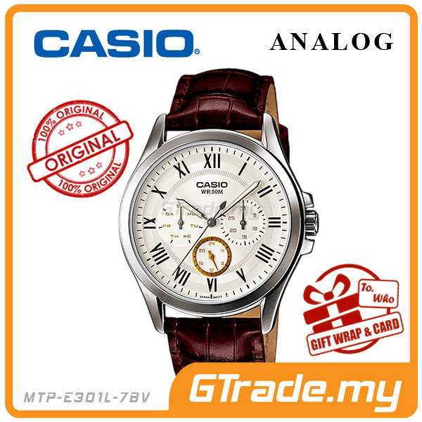 CASIO STANDARD MTP-E301L-7BV Analog Mens Watch  Day Date 24Hrs Display