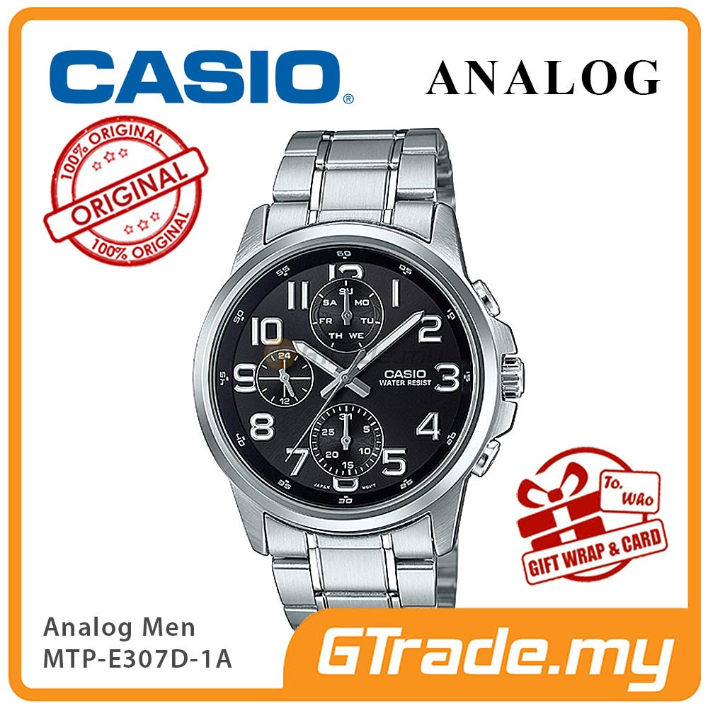 CASIO STANDARD MTP-E307D-1AV Analog Mens Watch | Day Date Numerical