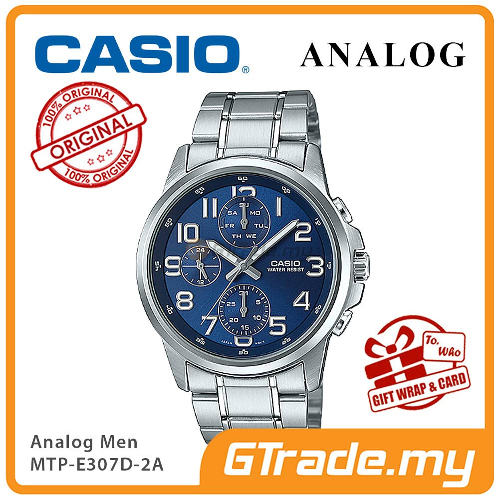 CASIO STANDARD MTP-E307D-2AV Analog Mens Watch | Day Date Numerical
