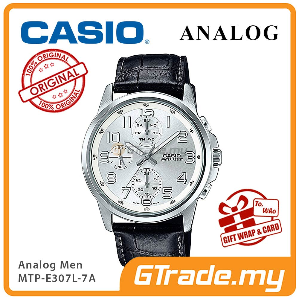 CASIO STANDARD MTP-E307L-7AV Analog Mens Watch | Day Date Numerical