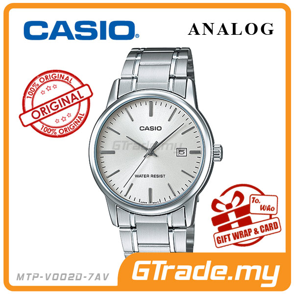 CASIO STANDARD MTP-V002D-7AV Analog Mens Watch | Date Display WR