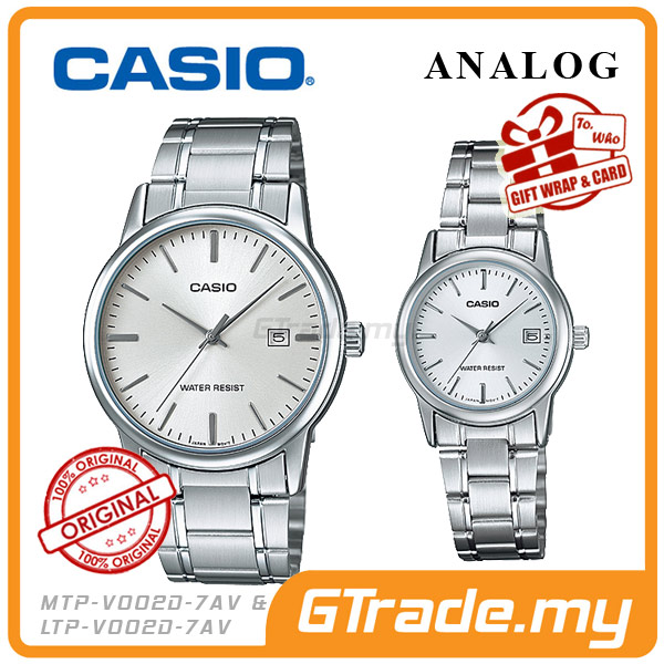 CASIO STANDARD MTP-V002D-7AV & LTP-V002D-7AV Analog Couple Watch