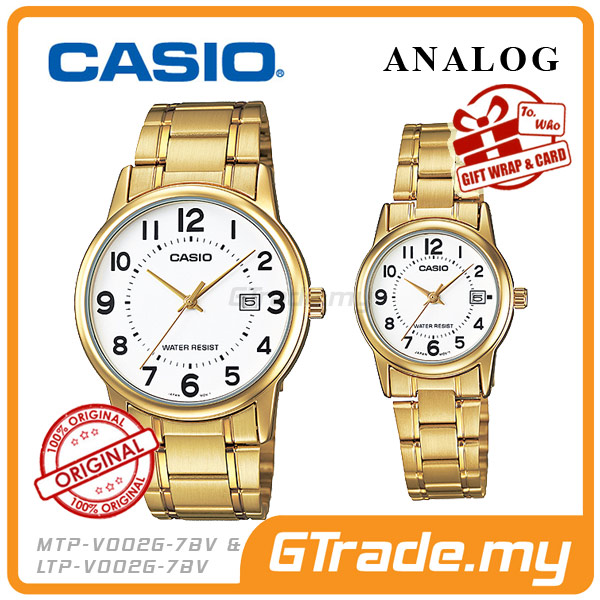 CASIO STANDARD MTP-V002G-7BV & LTP-V002G-7BV Analog Couple Watch