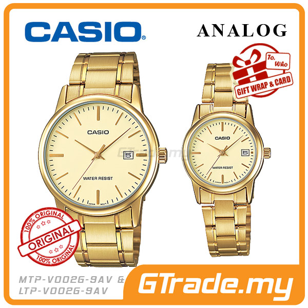 CASIO STANDARD MTP-V002G-9AV & LTP-V002G-9AV Analog Couple Watch