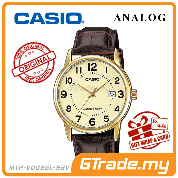 CASIO STANDARD MTP-V002GL-9BV Analog Mens Watch | Date Display WR
