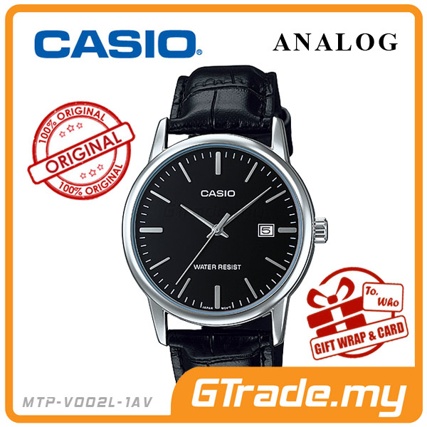 CASIO STANDARD MTP-V002L-1AV Analog Mens Watch | Date Display WR