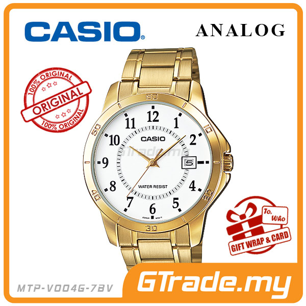 CASIO STANDARD MTP-V004G-7BV Analog Mens Watch | Gold Simple