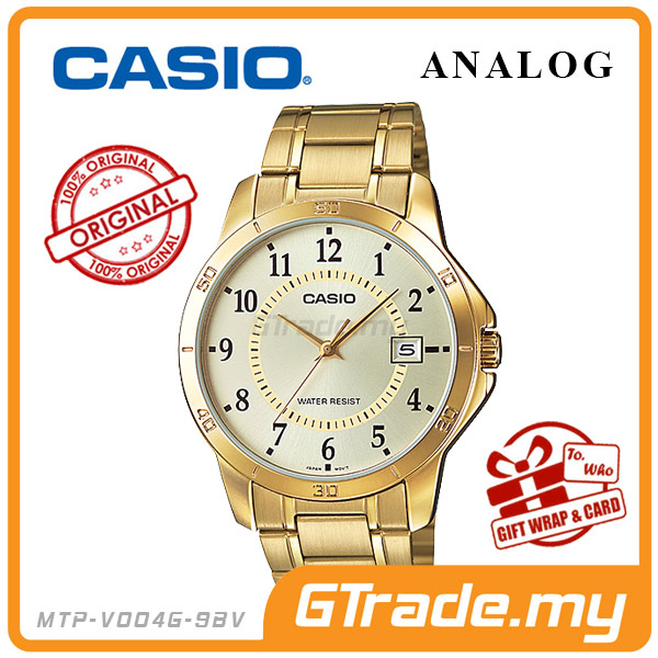 CASIO STANDARD MTP-V004G-9BV Analog Mens Watch | Gold Simple