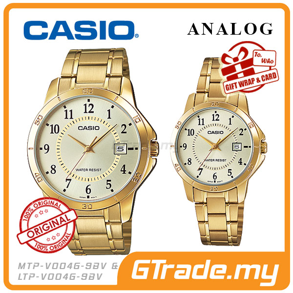 CASIO STANDARD MTP-V004G-9BV & LTP-V004G-9BV Analog Couple Watch