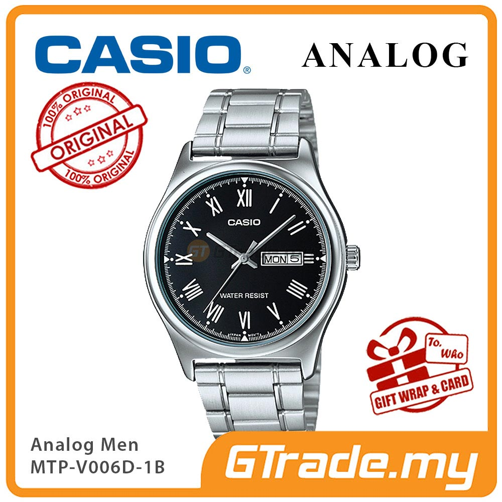 CASIO STANDARD MTP-V006D-1BV Analog Mens Watch | Day Date Display