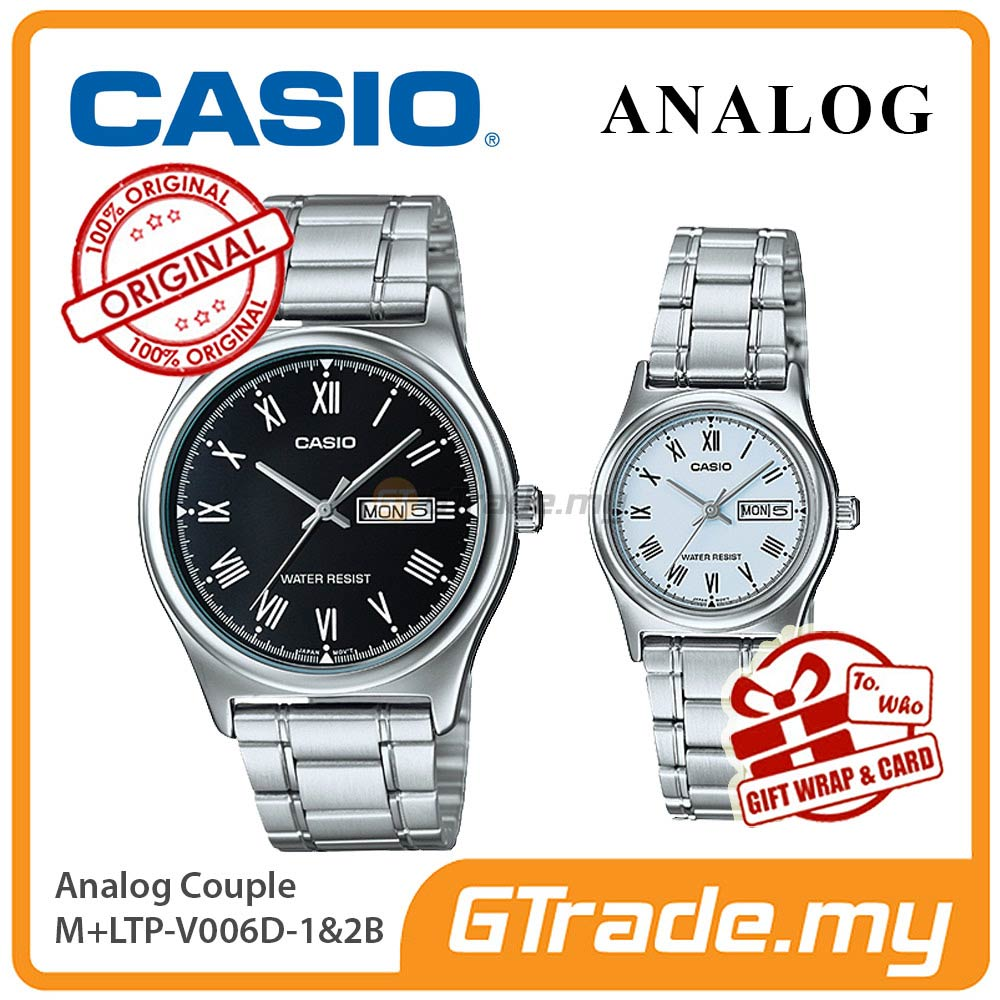 CASIO STANDARD MTP-V006D-1BV & LTP-V006D-2BV Analog Couple Watch
