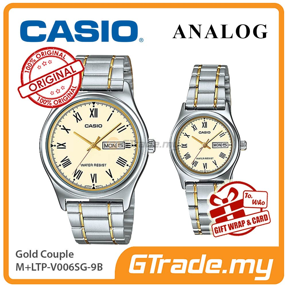 CASIO STANDARD MTP-V006SG-9BV & LTP-V006SG-9BV Analog Couple Watch