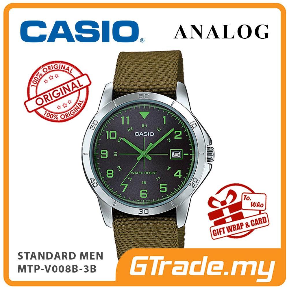 CASIO STANDARD MTP-V008B-3BV Analog Men Watch | Cloth Design Band
