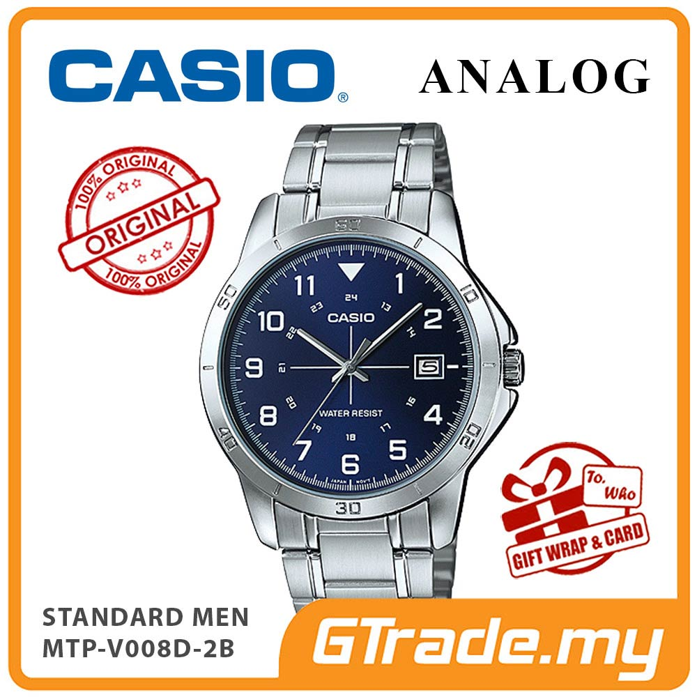 CASIO STANDARD MTP-V008D-2BV Analog Men Watch | Date Display 24Hr No.