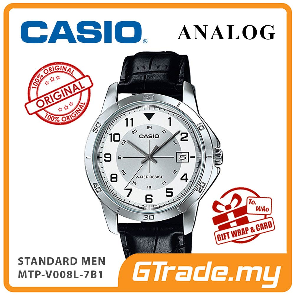 CASIO STANDARD MTP-V008L-7B1V Analog Men Watch | Leather Design Band