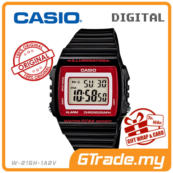 CASIO STANDARD W-215H-1A2V Digital Watch | Alarm Water Resist 50M