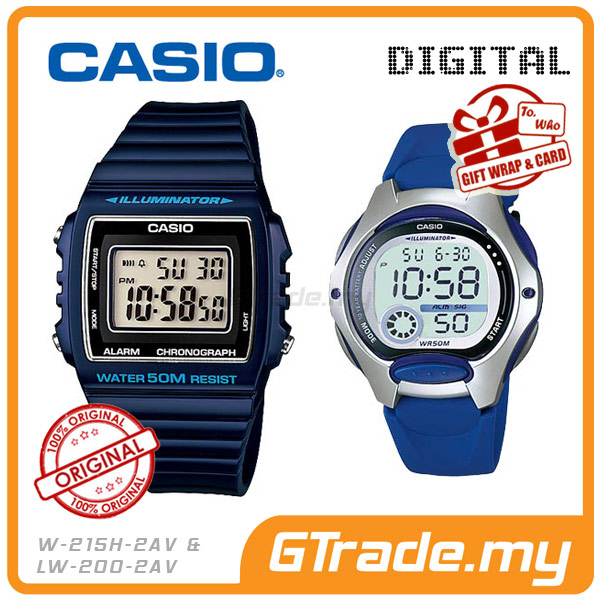 CASIO STANDARD W-215H-2AV & LW-200-2AV Digital Couple Watch