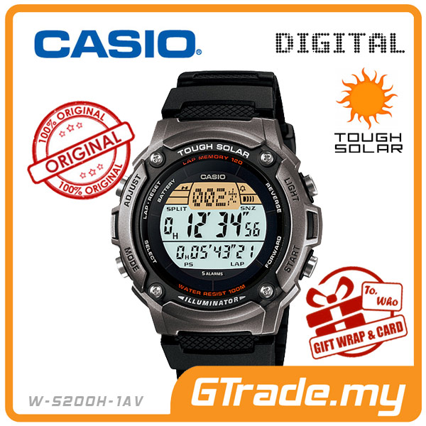 CASIO STANDARD W-S200H-1AV Digital Watch | Sporty Tough Solar