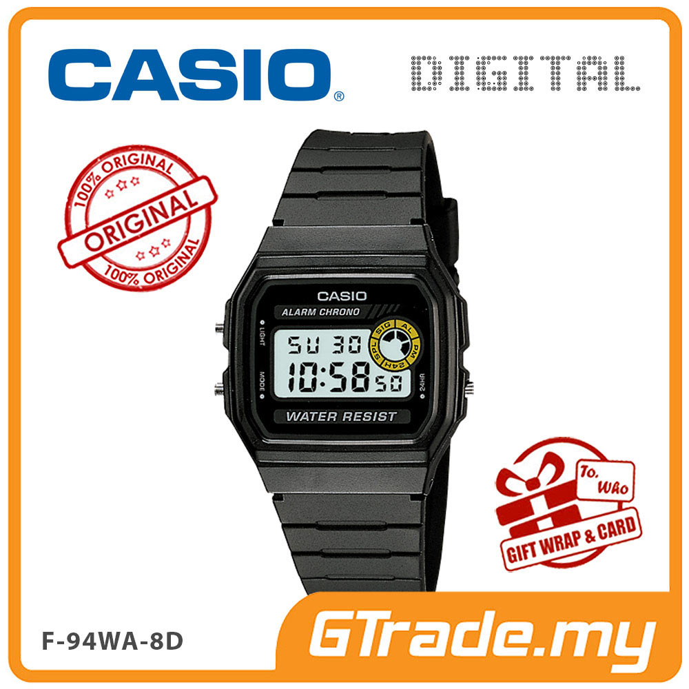 CASIO VINTAFE F-94WA-8D Digital Watch | Square Face 7 Yrs Batt.