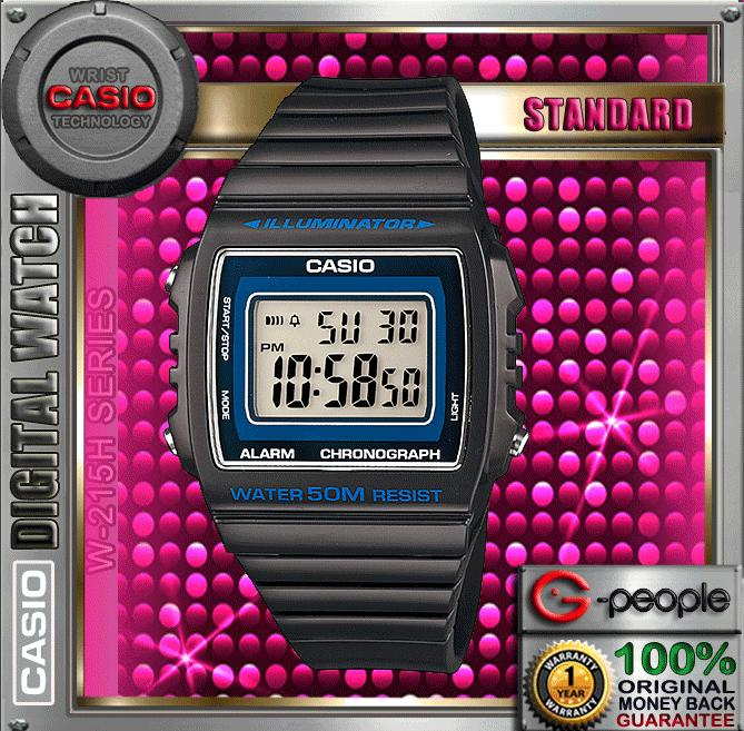 CASIO W-215H-8AV STANDARD DIGITAL WATCH ☑ORIGINAL☑