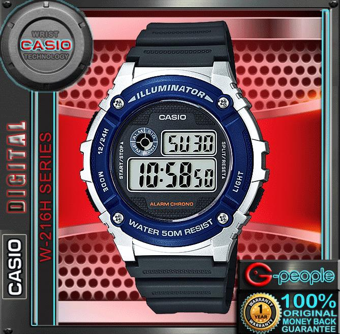 CASIO W-216H-2AV STANDARD DIGITAL WATCH ☑ORIGINAL☑