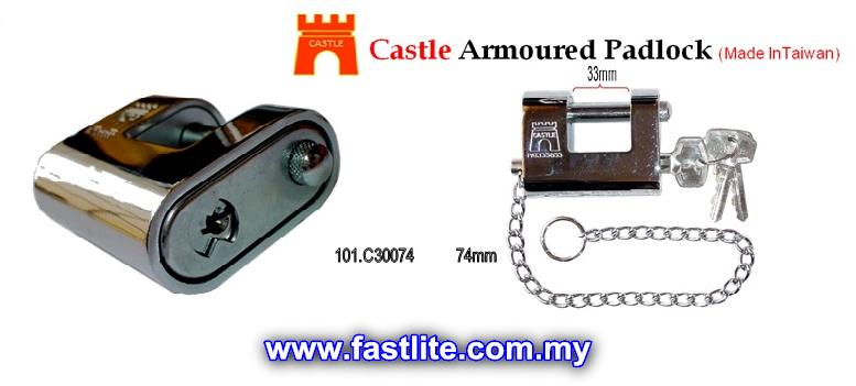 Castle Armour Heavy-Duty Padlock 74mm (3keys included)