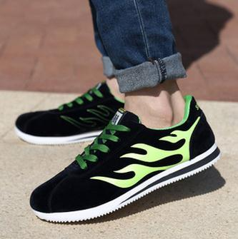 New casual men fashion trend suede sneakers shoes