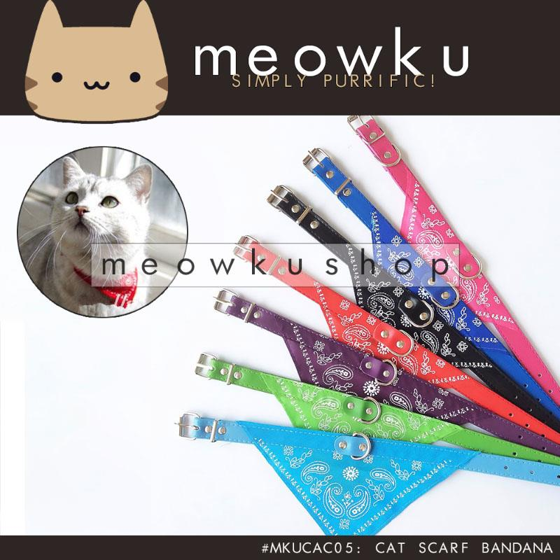 Cat Scarf Bandana (Adjustable Pet Dog Neck Fashion Scarf Collar Cute)