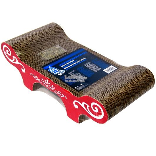Catit Style Patterned Cat Scratcher with Catnip - Urban - Bench