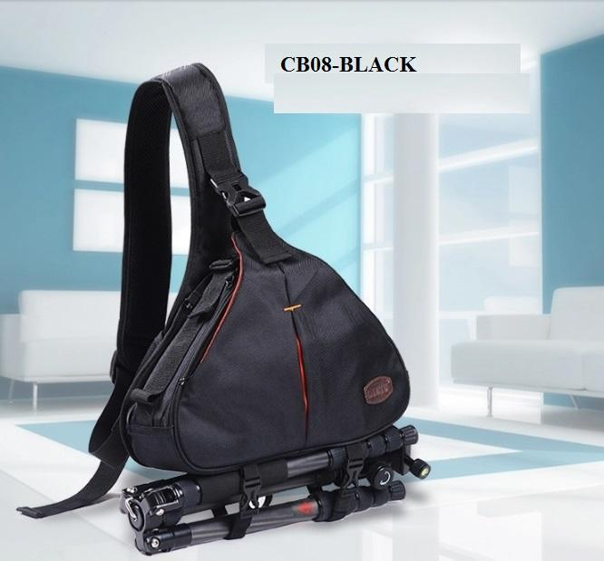 CB08 DSLR CAMERA BAG / BACKPACK / SLING CAMERA CASE +BLACK+