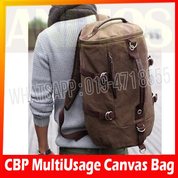 CBP-Men MultiUsage Canvas Hiking Travel Cycling Messenger Backpack