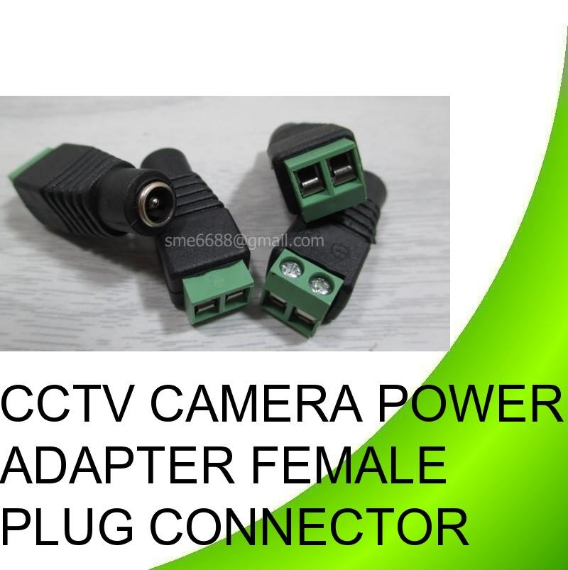 CCTV Camera Power Adapter Female Plug Connector Wire Joint Cable