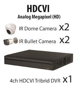 CCTV MLPQ HD-CVI  1.0MP 4 channel 720P HD Package