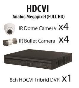 CCTV MLPQ HD-CVI  8 channel 2MP 1080P Full HD Package