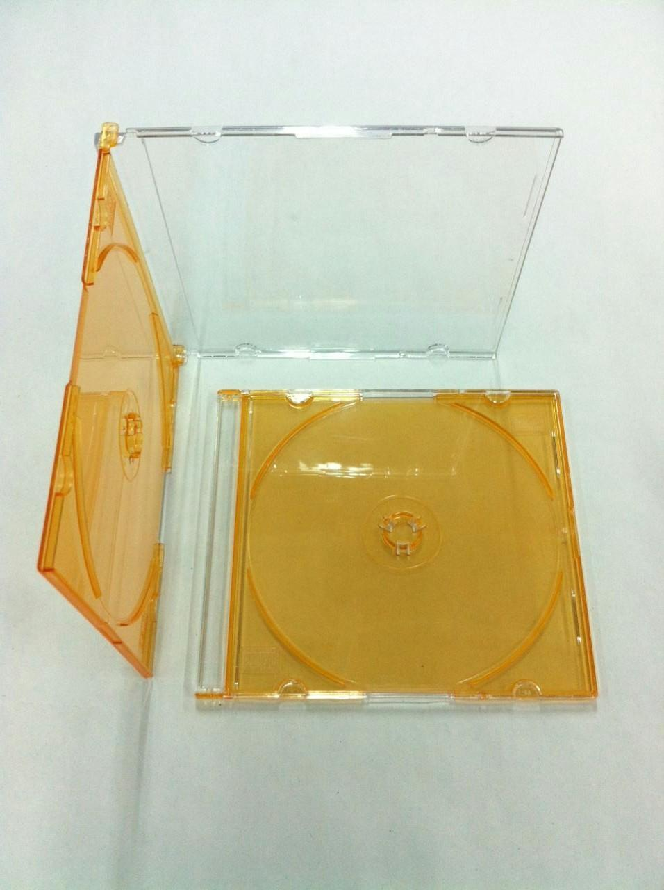 CD Slim Case Single Sided (Transparent Orange) (5pcs)
