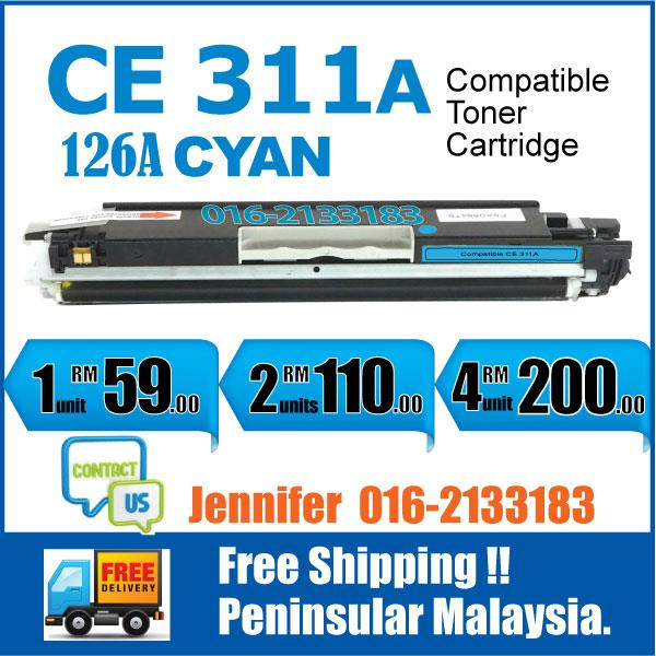MY CE311A/126A Cyan Color Compatible-HP Pro 100 M175 M 175 175nw 275