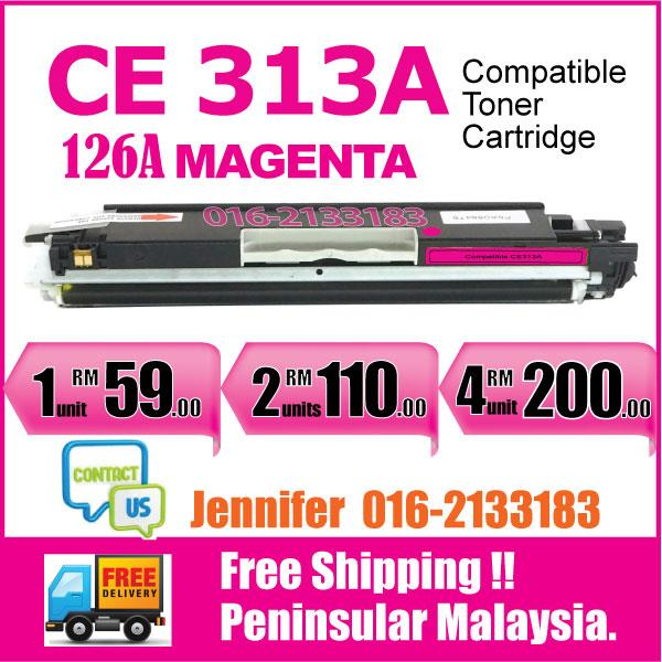 MY CE313A/126A Magenta Color Compatible-HP Pro M175 M 175 175nw 275